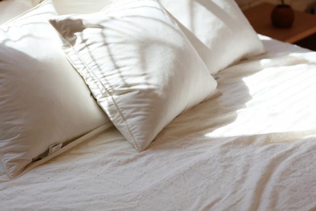 洗いたての寝具